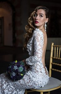 Экстравагантный свадебный макияж